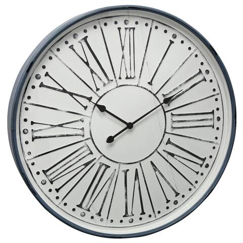 StyleCraft Round Wall Clock with Roman Numerals and Minute Tick Marks
