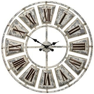 Link to The Gray Barn Round Wall Clock with Roman Numerals on-light Weathered Face Similar Items in Decorative Accessories
