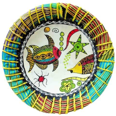 Handmade Kisii Soapstone Tropical Fish Plate (Kenya)