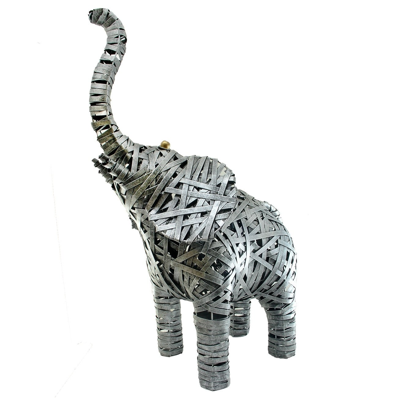 Handmade Gentle Giants Intricate Metal Elephant Statue Indonesia On Sale Overstock 27649483
