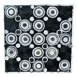 Recycled Paper Abstract Artwork- Circular Design (12x12)