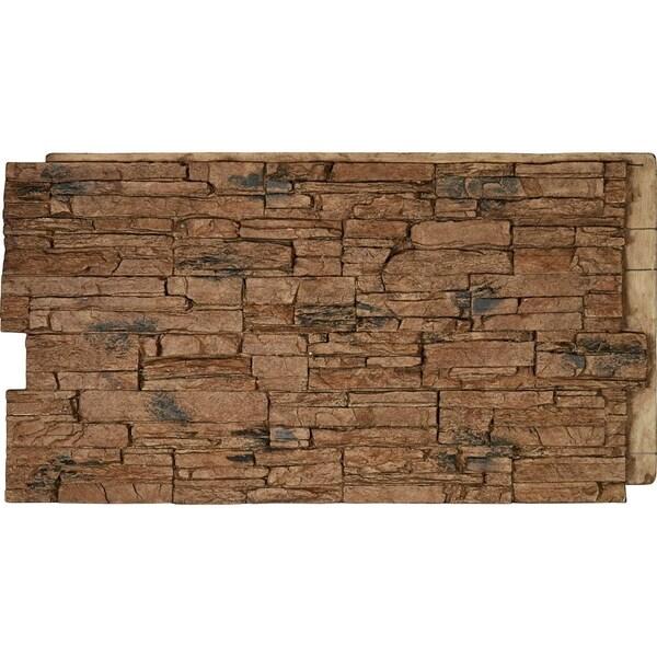 Canyon Ridge Stacked Stone, StoneWall Faux Stone Siding Panel