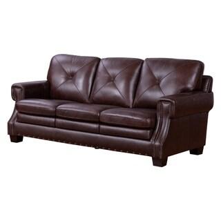 Abbyson Elijah Leather Sofa