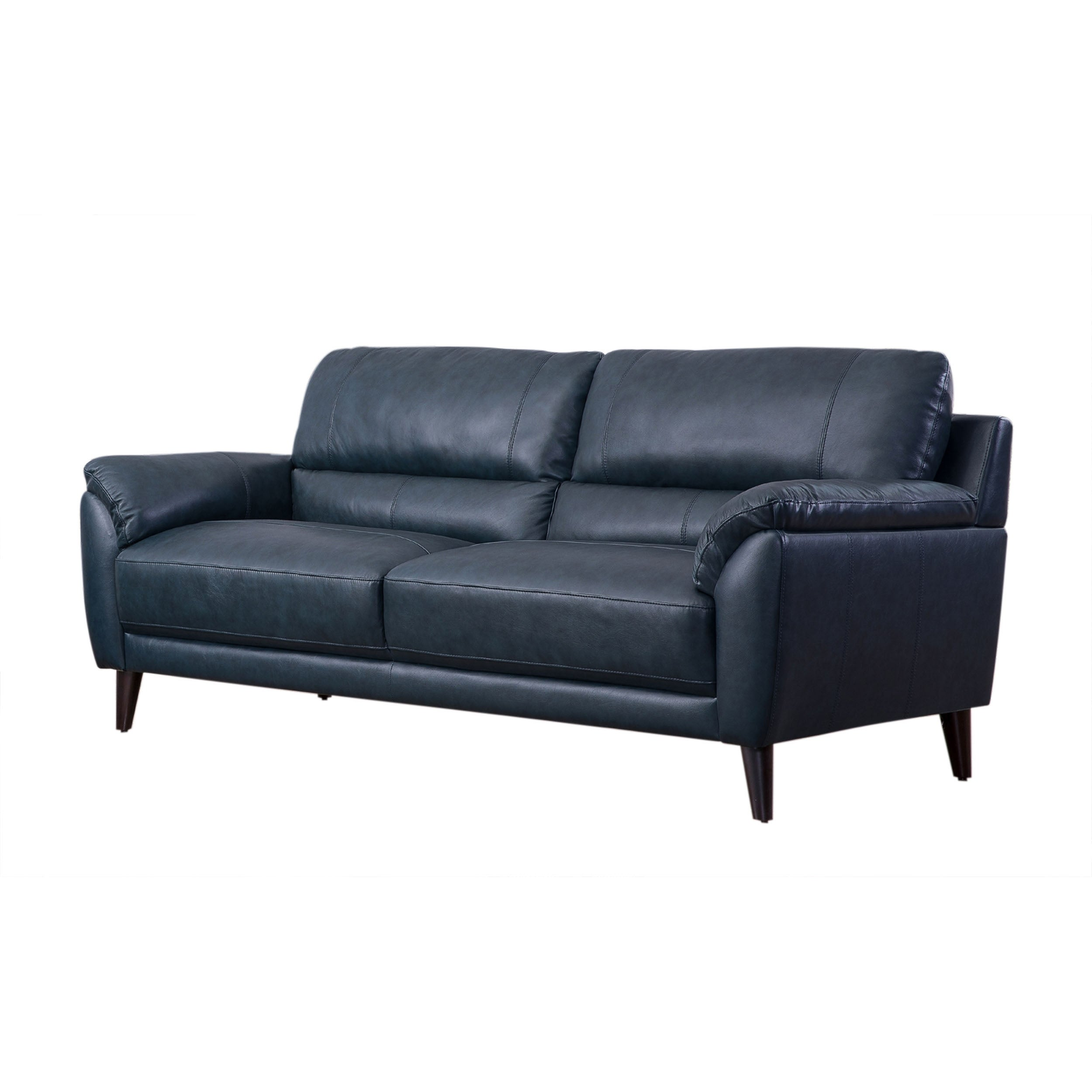 Shop Abbyson Colton Top Grain Leather Sofa   On Sale   Free Shipping Today    Overstock   27649576