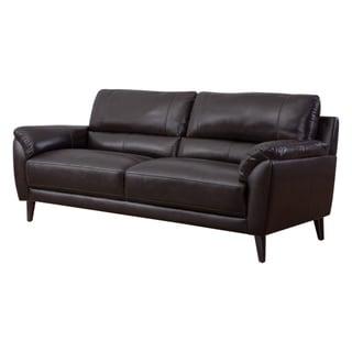 Strick & Bolton Top-grain Leather Sofa