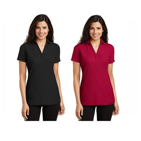 Port Authority Women's 2-Pack Y-Neck Polo