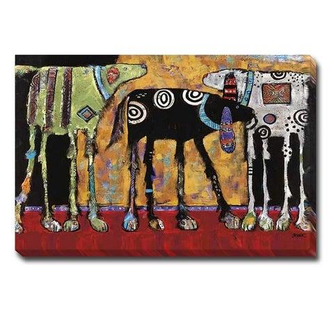 Looking for Trouble by Jenny Foster Oversize Gallery Wrapped Canvas Giclee (32 in x 48 in)