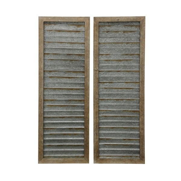 Shop Collection Of Wood Framed Metal Shutter Panels Wall