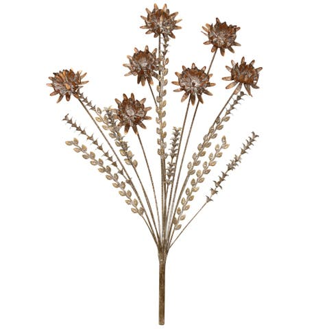 The Gray Barn Bouquet of Flowers Metal Wall Sculpture