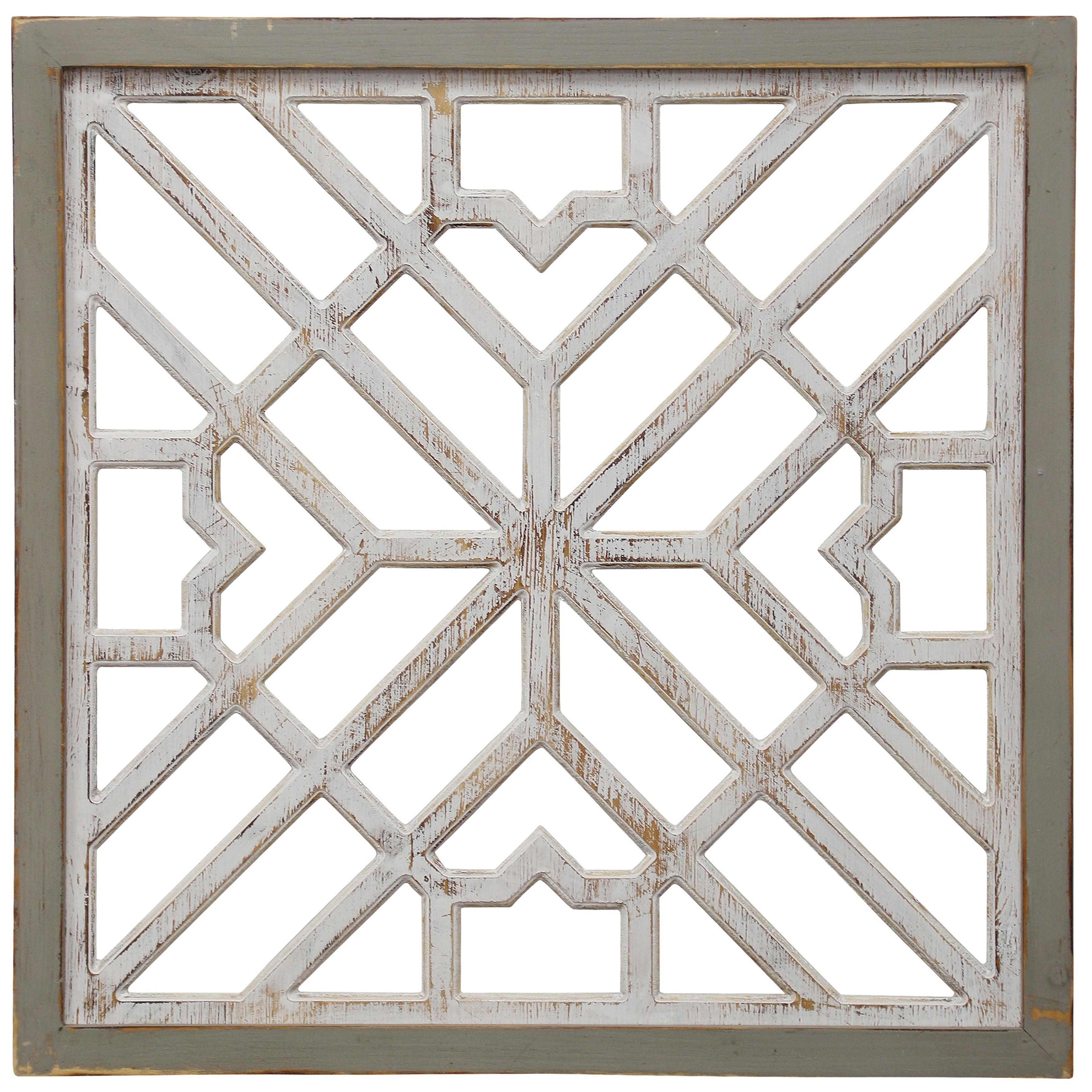 Colorful Rustic Wood /& Metal Wall Art Plaque Geometric Tiles Panel ~ Distressed