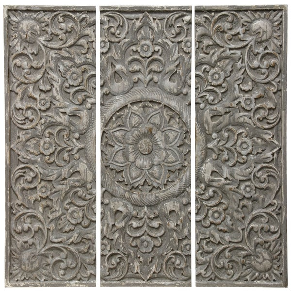 The Gray Barn Floral Pattern Wood Triptych (Set of 3)