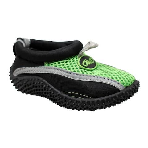 Toddlers Slip On Water Sock Black/Volt