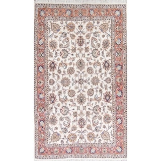"One of a Kind Tabriz Floral Handmade Wool Persian Oriental Area Rug - 10'1"" x 6'5"""