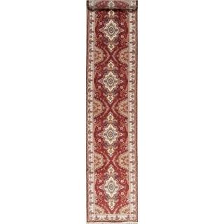 "One of a Kind Tabriz Floral Handmade Wool & Silk Persian Oriental Rug - 16'3"" x 2'11"" Runner"