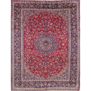 """Najafabad Floral Medallion Traditional Hand-Knotted Wool Persian Rug - 13'1"""" x 9'9"""""""