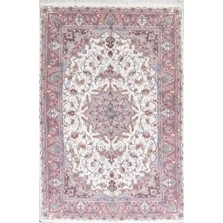 "Tabriz Floral Handmade Wool & Silk Persian Oriental Area Rug - 9'9"" x 6'5"""