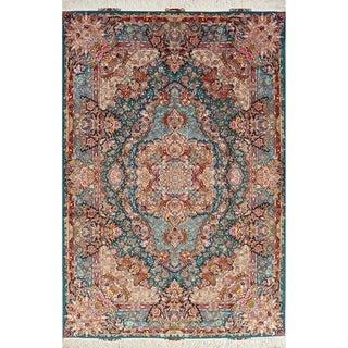 "Tabriz Floral Handmade Wool & Silk Persian Oriental Area Rug - 10'0"" x 6'8"""