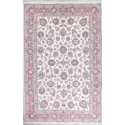 "One of a Kind Tabriz Floral Handmade Wool Persian Oriental Area Rug - 10'0"" x 6'4"""