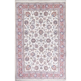 "One of a Kind Tabriz Floral Handmade Wool Persian Oriental Area Rug - 10'0"" x 6'4"""
