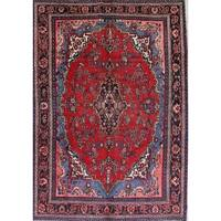 "Antique Hamedan Geometric Handmade Wool Persian Oriental Area Rug - 10'3"" x 7'0"""