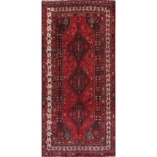 "Antique Shiraz Tribal Geometric Handmade Wool Persian Area Rug - 10'1"" x 6'9"""