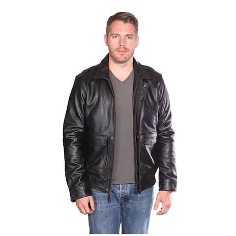 NUBORN Roger Leather Bomber Jacket
