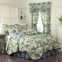 Waverly Floral Flourish Twin Size Quilt Set (As Is Item)