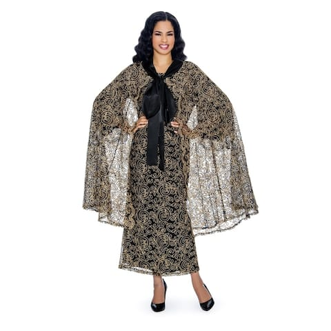 Giovanna Signature Women's 2-pc Luxury Lace Dress & Belted Cape