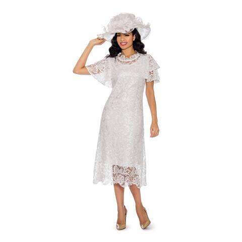 Giovanna Signature Women's Short Sleeve Lace Dress