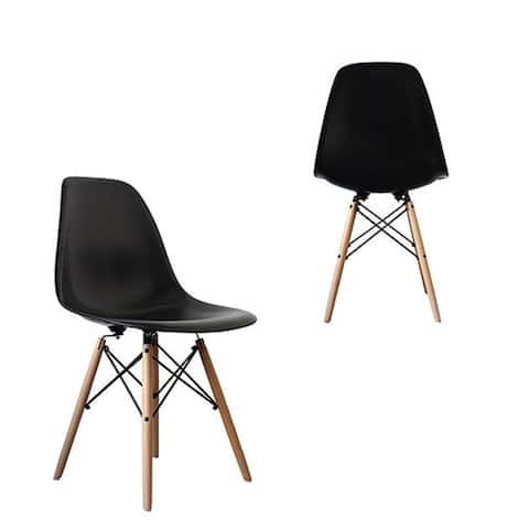 Mid-Century Modern Eiffel Style Dining Chair with Wood Legs