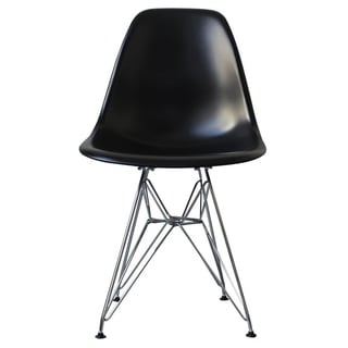 Link to Mid-Century Modern Eiffel Style Dining Chair with Metal Legs - Black Similar Items in Dining Room & Bar Furniture