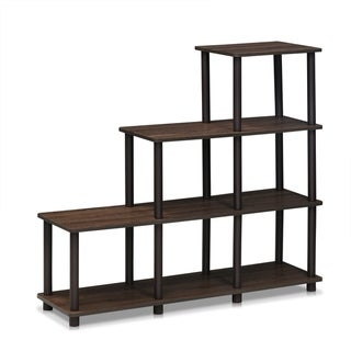 Link to Porch & Den Hargrave Walnut/Brown Ladder Space Shelf Similar Items in Bookshelves & Bookcases
