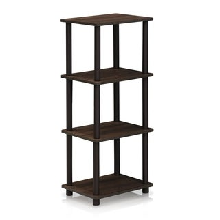 Porch & Den Hargrave Walnut/Brown 3-space Shelf
