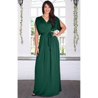 KOH KOH Long Semi Formal Bridesmaid Evening Cocktail Gown Maxi Dress