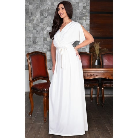 KOH KOH Long Semi Formal Bridesmaid Evening Cocktail Gown Maxi Dress