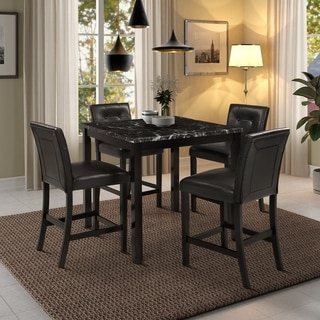 Harper & Bright Designs 5 Piece Counter Height Dining Set