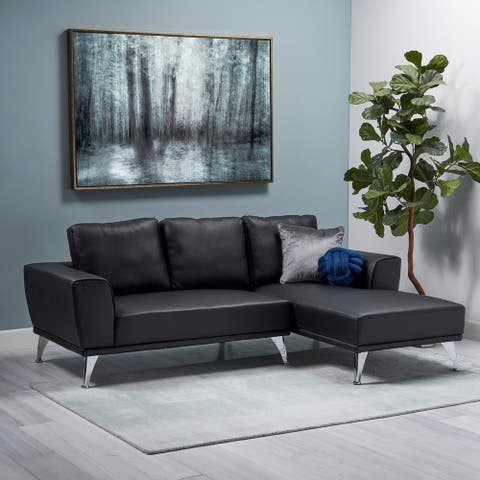 Connel Modern Fabric Chaise Sectional by Christopher Knight Home