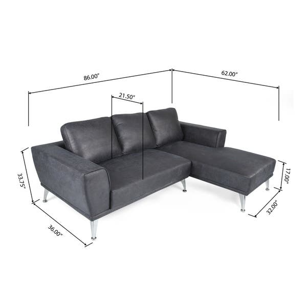 Excellent Shop Connel Modern Microfiber Chaise Sectional By Uwap Interior Chair Design Uwaporg