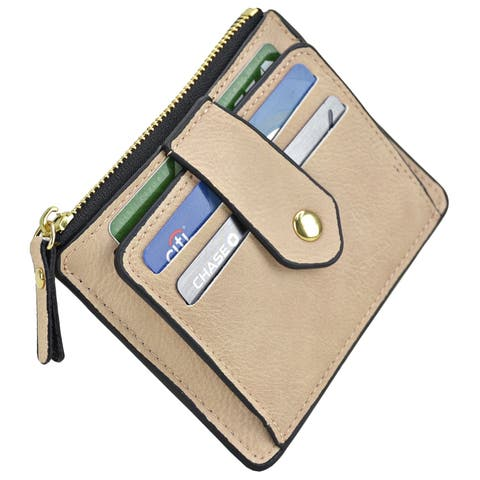 Magnetic Front Back Pocket Money Wallet with Multiple Card Slots - S