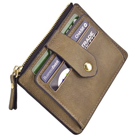 Magnetic Front Back Pocket Money Wallet with Multiple Card Slots - S