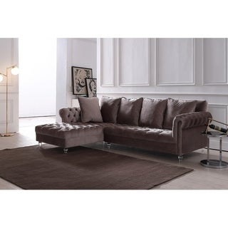 Silver Orchid Purviance Modern Light Grey Sectional Sofa