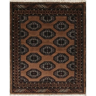 """Balouch Geometric Hand-Knotted Wool Persian Oriental Rug - 3'4"""" x 2'9"""" Square"""