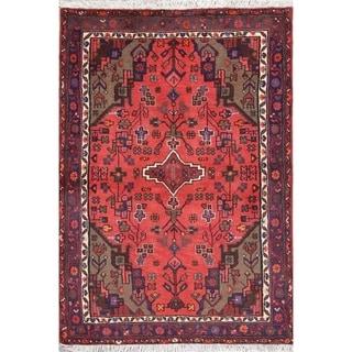 "Hamedan Geometric Hand-Knotted Wool Persian Oriental Area Rug - 4'8"" x 3'2"""