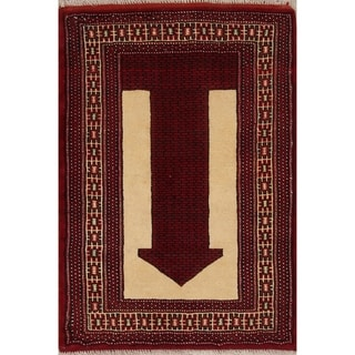 """Balouch Geometric Hand-Knotted Wool Persian Oriental Area Rug - 3'9"""" x 2'7"""""""