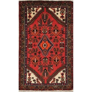 "Hamedan Tribal Geometric Hand-Knotted Wool Persian Oriental Area Rug - 5'2"" x 3'1"""