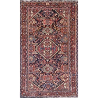 "Antique Sultanabad Geometric Hand-Knotted Wool Persian Area Rug - 7'2"" x 4'2"""