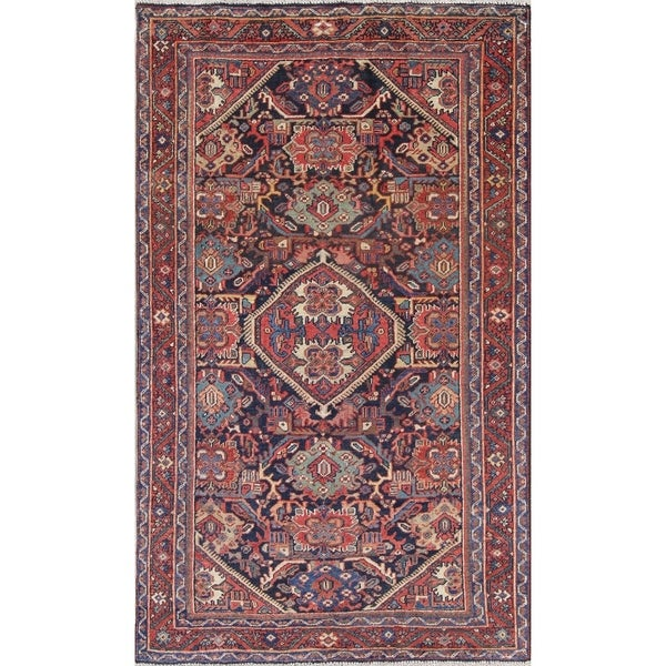 """Antique Sultanabad Geometric Hand-Knotted Wool Persian Area Rug - 7'2"""" x 4'2"""""""