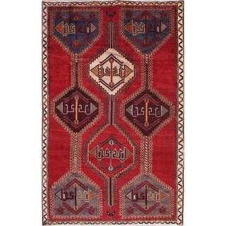 "Shiraz Geometric Hand-Knotted Wool Persian Oriental Area Rug - 6'10"" x 4'3"""