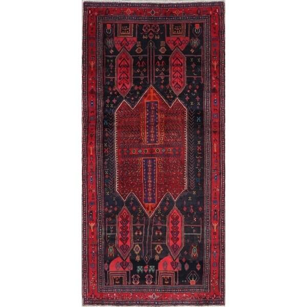 """Bidjar Tribal Geometric Hand-Knotted Wool Persian Oriental Rug - 8'10"""" x 4'2"""" Runner"""