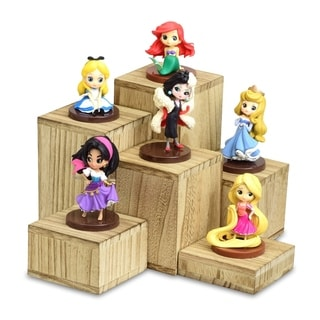 Ikee Design Wooden 6 Pcs Square Risers Accessories Stand